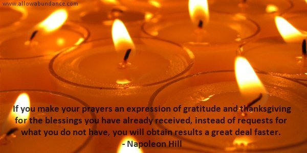 Abundance Quote: Prayers ofGratitude and Thanksgiving